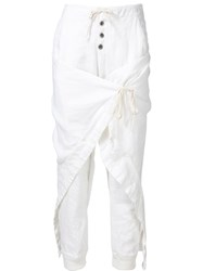 Greg Lauren 'Warrior Lounge' Trousers White