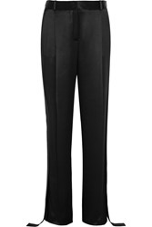 Givenchy Wide Leg Pants In Black Silk Satin