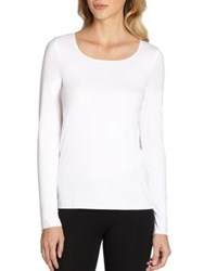 Wolford Pure Long Sleeve Tee Geradine Damson Croissant Madeira Tint White Black