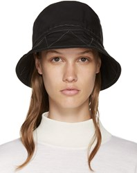 And Wander Black Nylon Bucket Hat