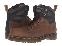 Dr. Martens Work Fairleigh Steel Toe 6 Eye Boot Brown Overlord Lace Up Boots