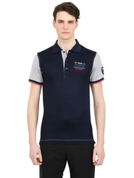 Paul And Shark Kipawa Color Block Cotton Pique Polo Navy Grey