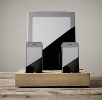 Charging Station For Iphone And Ipad Dry Oak