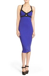 Women's Leith Elastic Trim Body Con Dress Blue Clematis