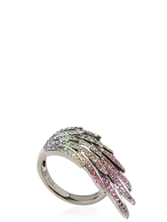 As29 Wing Collection Pinky Ring Sapphire Multi
