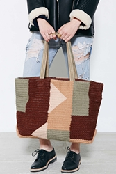 Bdg Woven Wool Sweater Tote Bag Brown