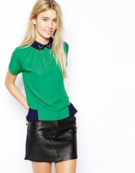Jovonnista J'adore Blouse With Stag Chain Green