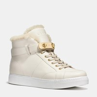 Coach Richmond Shearling Sneaker Chalk Natural