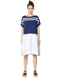 I'm Isola Marras Striped Cotton Knit And Poplin Dress