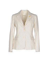 Ottod'ame Suits And Jackets Blazers Women Ivory