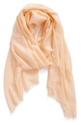 Women's Nordstrom Cashmere And Silk Wrap Coral Coral Pale