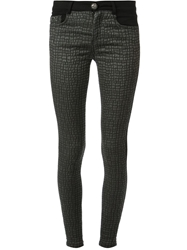 Luca Taiana Patterned Skinny Jeans Black