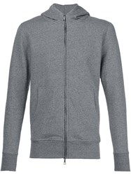 John Elliott Zip Up Hoodie Grey