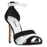 Dune Magpie Stiletto Heeled Sandals Black White
