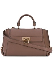 Salvatore Ferragamo 'Sofia' Tote Brown