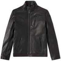 Barbour International Winter Sproket Leather Jacket Black