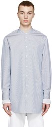 3.1 Phillip Lim Blue And White Poplin Shirt
