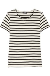 A.P.C. Atelier De Production Et De Creation Lynn Striped Cotton T Shirt White