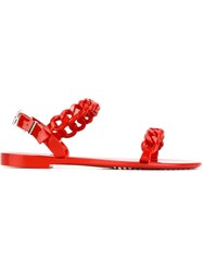 Givenchy Chain Link Sandals Red
