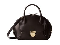 Salvatore Ferragamo 21E770 Fiamma Nero Satchel Handbags Black