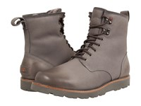 Ugg Hannen Tl Metal Leather Men's Lace Up Boots Gray