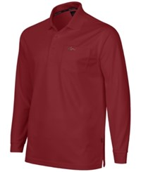 Greg Norman For Tasso Elba Men's 5 Iron Long Sleeve Performance Polo Bright Crimson