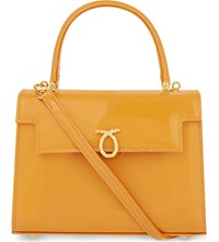 Launer Judi Leather Tote Orange