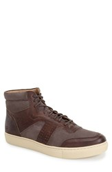 Andrew Marc New York Men's Andrew Marc 'Concord' Sneaker Brown Cream Leather