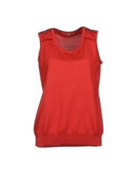 Xandres Sleeveless Sweaters Brick Red