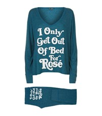 Wildfox Couture I Only Get Up For Rose Legging Pyjama Set Female Green