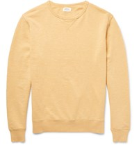 Hartford Loopback Cotton Jersey Sweatshirt Yellow