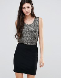 Minimum Tarita Vest Top Black Gold