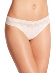 Natori Foundations Bliss Perfection Thong Tulle Pink Black