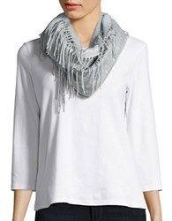 Lord And Taylor Dotted Loop Scarf Grey