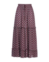 George J. Love Skirts Long Skirts Women Maroon
