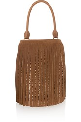 Burberry Fringed Suede And Leopard Print Calf Hair Tote Animal Print