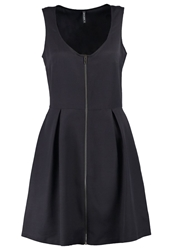Naf Naf Summer Dress Charbon Dark Gray
