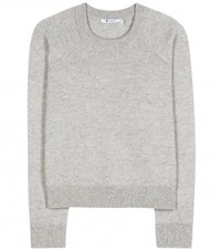 Alexander Wang Wool And Cashmere Cropped Sweater Grey