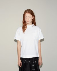 Sacai Cotton Jersey T Shirt White