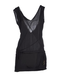 Dirk Bikkembergs Short Dresses Black