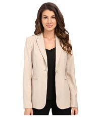 Calvin Klein 1 Button Jacket Latte Women's Jacket Brown