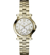 Gc X50002l1s Demoiselle Pvd Yellow Gold Watch Pearl