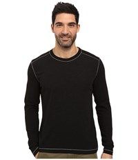 Agave Chanz Long Sleeve Tri Blend Slub Black Men's Long Sleeve Pullover