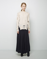 Maison Martin Margiela Defile Long Tucked Skirt Black