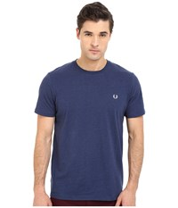 Fred Perry Crew Neck T Shirt French Navy Marl Men's T Shirt Blue