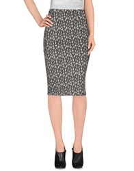 Selected Femme Knee Length Skirts Grey