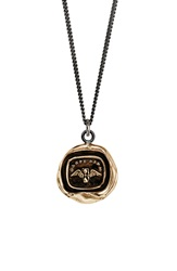 Pyrrha 'Carpe Diem' Talisman Pendant Necklace Bronze