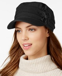 Collection Xiix Studded Flower Military Cap Black