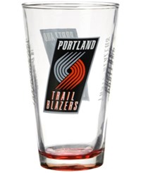 Boelter Brands Portland Trail Blazers Elite Pint Glass Clear Red