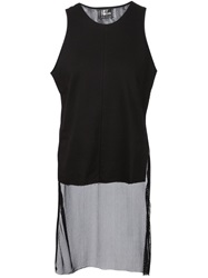 Lost And Found Asymmetric Hem Sleeveless Top Black